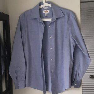 TALBOTS Wrinkle-Resist Classic Blue Shirt Size 8
